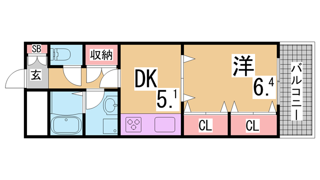 物件番号: 1111232392 シュロスアリノ  神戸市北区有野中町4丁目 3DK マンション 間取り図