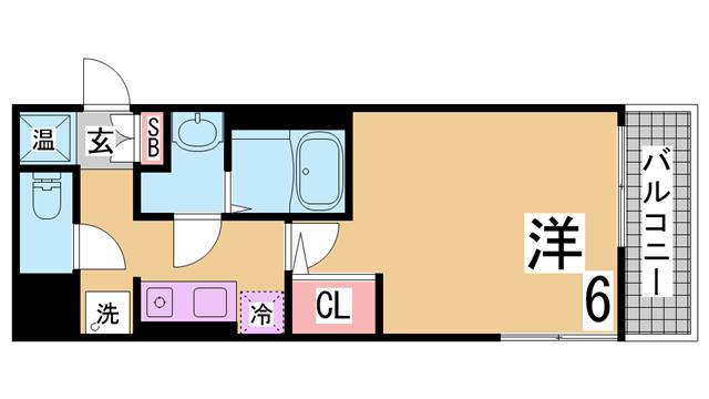 ロイヤル神戸三宮 神戸市中央区加納町4丁目10-23 1K 賃貸 ...