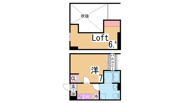 物件番号: 1111262542  神戸市長田区野田町9丁目 1SK ハイツ 間取り図