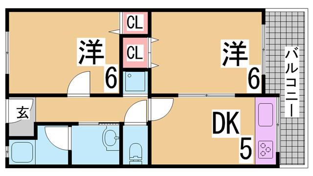 物件番号: 1111268090  神戸市長田区浜添通5丁目 1SK アパート 間取り図