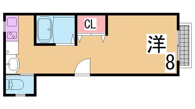 物件番号: 1111284123  神戸市兵庫区浜崎通 3LDK マンション 間取り図