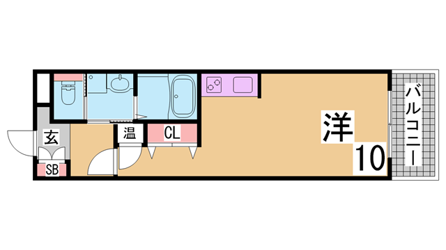 物件番号: 1111285836  神戸市長田区神楽町5丁目 1R マンション 間取り図