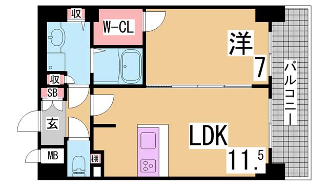 物件番号: 1111288201  神戸市北区谷上西町 2LDK テラスハウス 間取り図