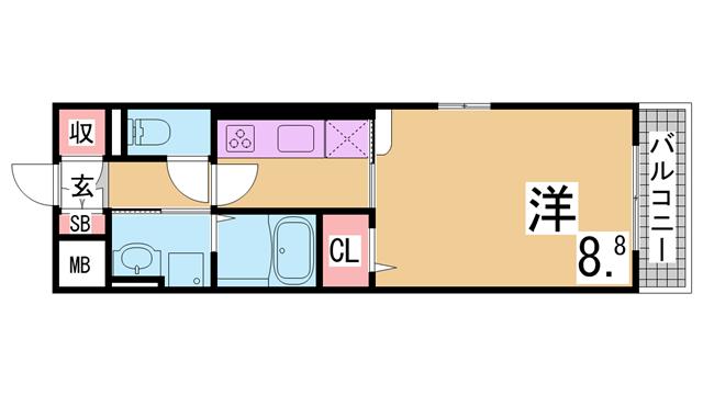 物件番号: 1111288224  神戸市北区谷上西町 3LDK マンション 間取り図