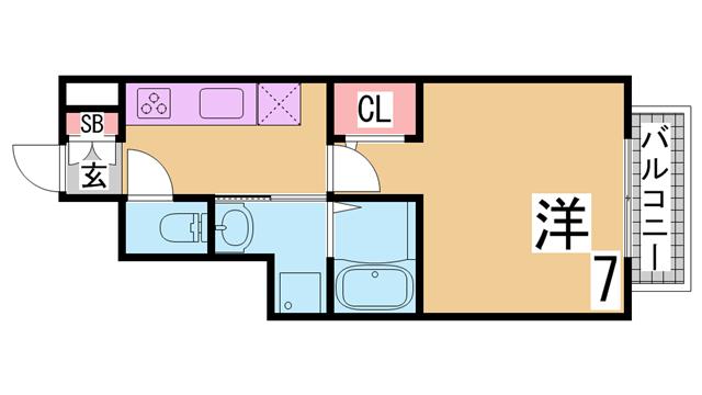 物件番号: 1111288424  神戸市北区鹿の子台北町4丁目 3DK ハイツ 間取り図
