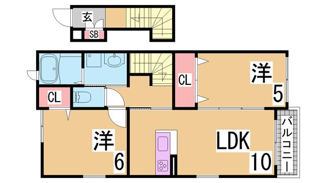 物件番号: 1111288819  神戸市須磨区白川台6丁目 1DK マンション 間取り図