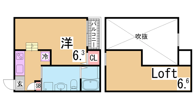物件番号: 1111290726  神戸市長田区海運町8丁目 1SK ハイツ 間取り図