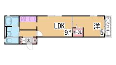 駅すぐの築浅ハイツ システムキッチン(ガス3口)・追焚機能付浴室 201の間取