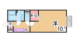 オートロック・システムキッチン・ウォークインクローゼット付の築浅ハイツ^^ 102の間取