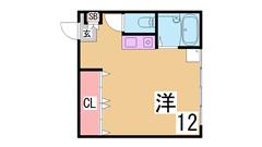 隠れ家のような物件 フロア一室 大型CL 浴室乾燥 セパレート 追焚き付 401の間取