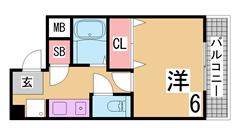 アーバンハウス神戸 506の間取