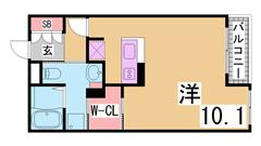 エスティーメゾン神戸三宮 403の間取