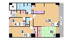 オークスクエア西神中央 7番館 202の間取