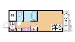 YKハイツ中崎Ⅱ 303の間取