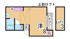 パイン神戸三宮 402の間取