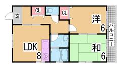 室内リノベーション^^システムキッチン・三点セパレート・大型収納^^ペット相談 302の間取
