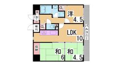 ライオンズマンション神戸西元町第2 502の間取