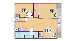 室内リノベーション^^室内は新築のようです^^小・中学校もすぐ^^ 101の間取
