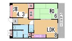 礼金・更新料・手数料・保証人不要 ・敷金分割キャンペーン^^ 304の間取