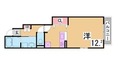人気の築浅物件^^カウンターキッチン、シャンドレ、浴室乾燥、ウォシュレット^^ 102の間取