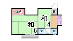 駅までスグの立地^^総額5.5万円で入居可能^^ 11の間取