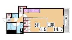 アーバンライフ神戸三宮ザ・タワー 1603の間取