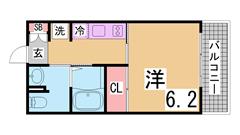 レジディア神戸元町 306の間取