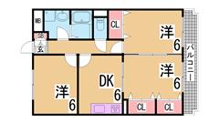 駅・スーパー・コンビニ徒歩圏内^^オール洋室のリノベーション物件^^ 403の間取