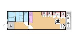 学園都市駅スグの人気マンション^^礼金0・分割可能・三点セパレート・ガスキッチン 511の間取