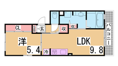 クリアパーク西神戸 102の間取