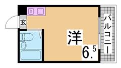 敷金礼金なし 3駅アクセス可 ガスキッチン 1フロア1室全室角部屋設計 201の間取
