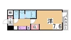 築浅デザイナーズマンション^^インターネット料金無料^^神戸女子大生に人気^^ 303の間取