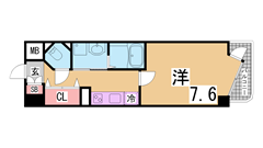 神戸女子大生に人気のオートロック・システムキッチン・追焚付築浅マンション^^ 302Aの間取
