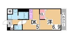 オートロック・システムキッチン・宅配BOX付^^学生様に人気です^^ 205の間取