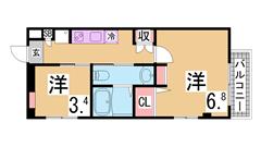 インターネット無料^^システムキッチン 学生様なら3月からの家賃発生可^^ 1-Dの間取