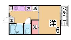 エアコン1台付き^^J-COMインターネット無料^^セパレートでこのお家賃^^ 203の間取