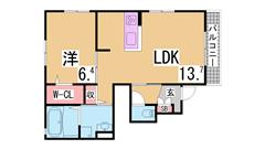 閑静な住宅街 システムキッチン 浴室乾燥機 TVモニターホン 101の間取