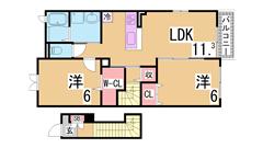 大手ハウスメーカー施工 オール電化 システムキッチン 201の間取
