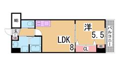 築浅物件・システムキッチン・陽当り良好・EV・AL・追い焚き機能^^ 904の間取