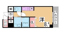 ガスキッチン・TVモニターホン・脱衣所付きの3点セパレート トランクルーム付^^ 304Aの間取