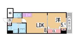 築浅物件・システムキッチン・陽当り良好・EV・AL・追い焚き機能^^ 502の間取