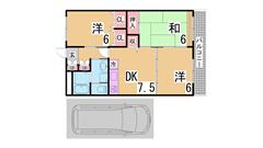 駐車場賃料に1台込み^^室内美麗^^お客様目線の初期費用^^閑静な地域です^^ 203の間取