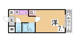 神戸アスタカレッジハイツ 205の間取