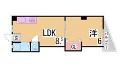 敷金礼金なし^^室内リノベーション^^大型キッチン^^南向き^^ 306の間取