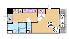 エル・セレーノ御崎本町 B518の間取