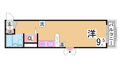 インターネット無料 オール電化 IHキッチン オートロック・エレベーター付^^ 206の間取