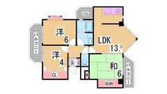 神戸アスタカレッジハイツ 302の間取