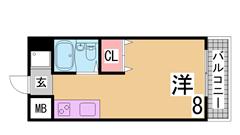敷金礼金0円^^このお家賃でシステムキッチン付は珍しいです^^ 302の間取