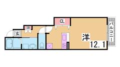 カウンターキッチン^^スーパー・コンビニ・飲食店が徒歩圏内^^閑静な地域です^^ 101の間取