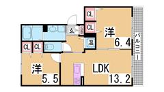 ペットOK^^オートロック・オール電化(エコキュート)・人気のシャーメゾン^^ B307の間取